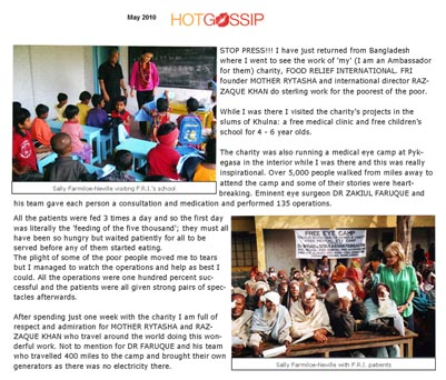 Mother Rytasha Medical Camp News Article